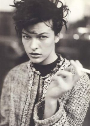 Milla Jovovich Mannish Style