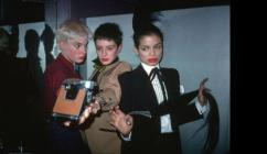 Edwige Belmore, Maripol and Bianca Jagger at Studio 54 in New York.