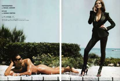 "Edita Vilkeviciute fotografata da Mikael Jansson in 'Follow That Woman"", Vogue Giappone."