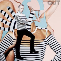Out Magazine, collage di Damien Blottiere.
