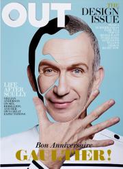 Copertina di Out Magazine, collage di Damien Blottiere.