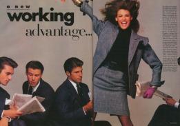 Lida Evangelista A New Working Advantage - Vogue August 1987