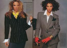 Christy Turlington A New Working Advantage - Vogue August 1987