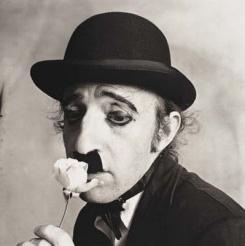 Woody Allen as Charlie Chaplin -New York 1972 by Irving Penn
