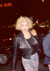 1989 - Madonna wearing shorts made for her by Keith Haring