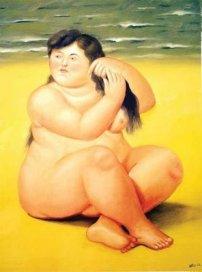 Fernando Botero- Mujer Playa