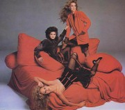 Gia Carangi, Jerry Hall & Rosie Vela for Versace (1979)