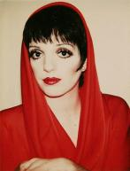 Liza Minnelli wearing Halston by Andy Warhol