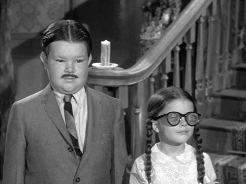 Ken Weatherwax as Pugsley & Lisa Loring as Wednesday