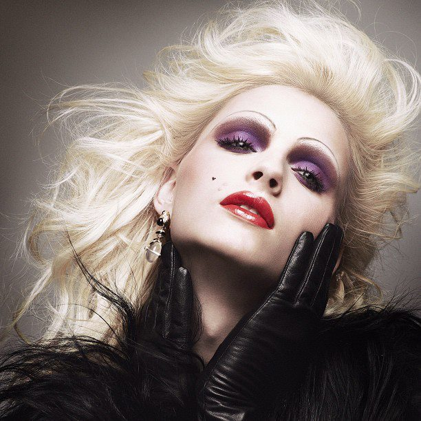 Andrej Pejic as Candy Darling for DuJour magazine