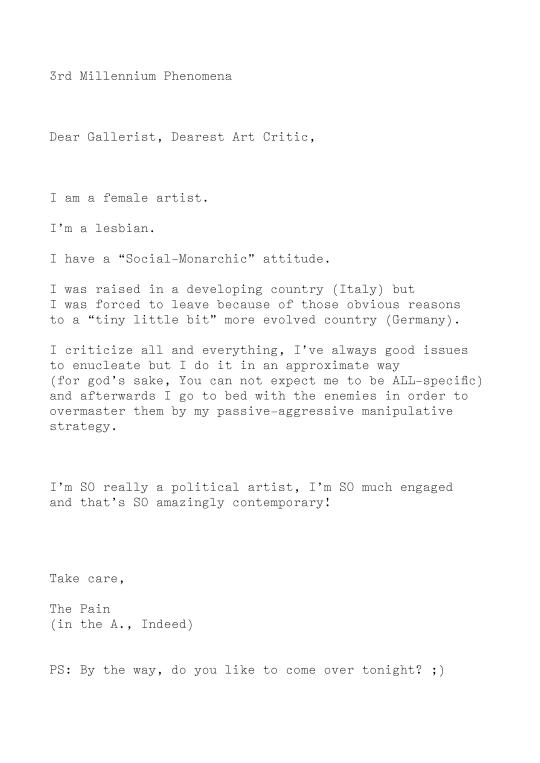 Dear Gallerist,