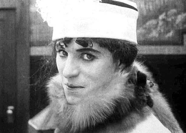 The cross dressing of Charlie Chaplin