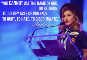 Madonna as a Boy Scout for Gay Rights Glaad 2013
