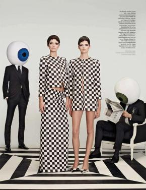 W MAGAZINE Ava Smith e Bette Franke in Optical Allusions, fotografo: Roe Ethridge