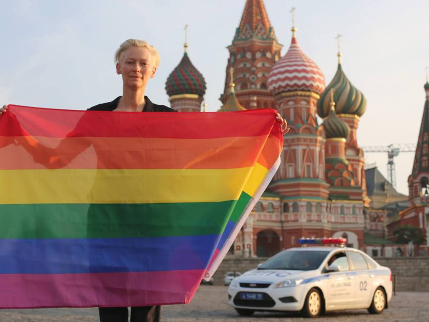 TildaSwinton against Homophobia in Russia ph: Sandro Kopp