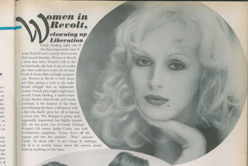 Candy Darling in Vogue 1972.
