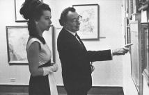 Ultra Violet and Salvador Dali at the Huntington Hartford Museum in New York in 1969.