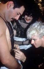 Steve Strange and Freddie Mercury